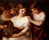 Four_Children_With_A_Basket_Of_Fruit