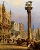 A_View_Of_St_Marks_Column_And_The_Doges_Palace_Venice