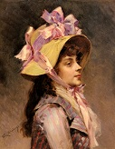 portrait_Of_A_Lady In_Pink_Ribbons